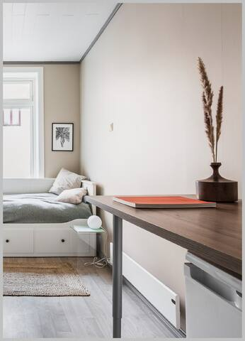 modern studio apartment in Sagene, Oslo.