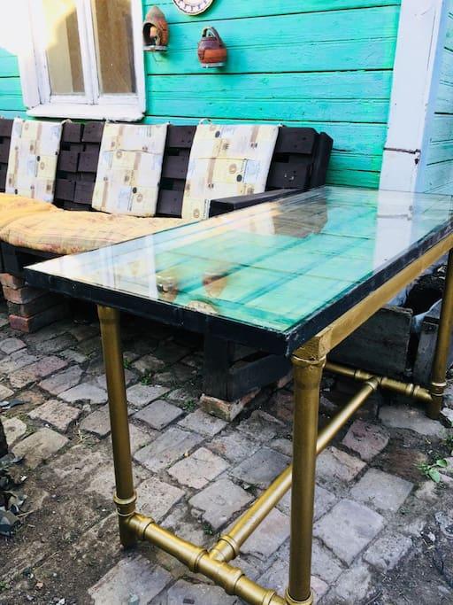 Table at garden