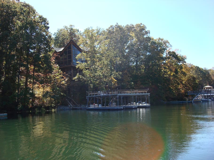 View of the Retreat from Lake Lanier