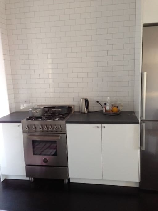 Newly renovated kitchen with stainless appliances