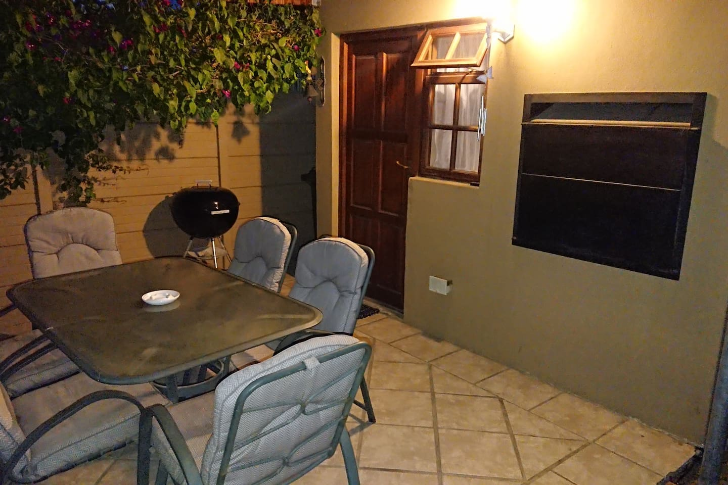 Outdoor seating area with built in braai