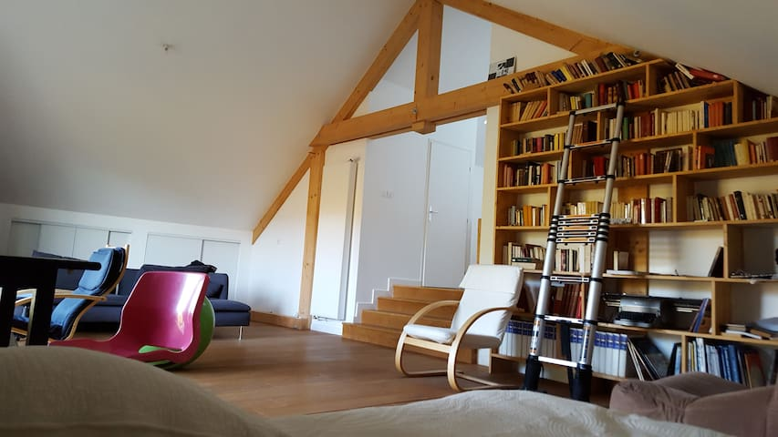 """Royal"" suite in a renovated farmhouse - Pers-Jussy - House"