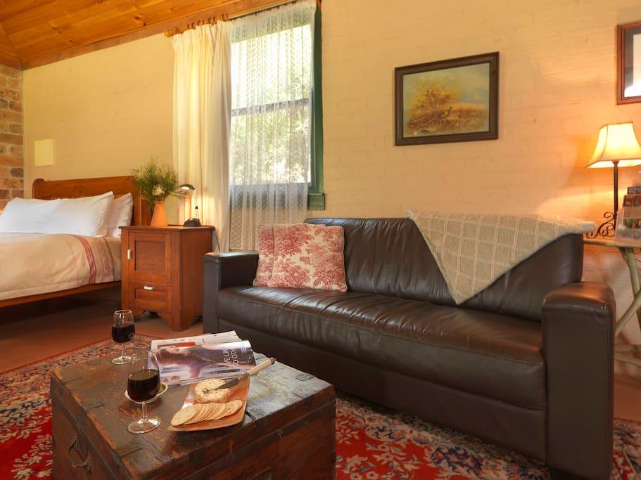 A delightful, comfortable living area.