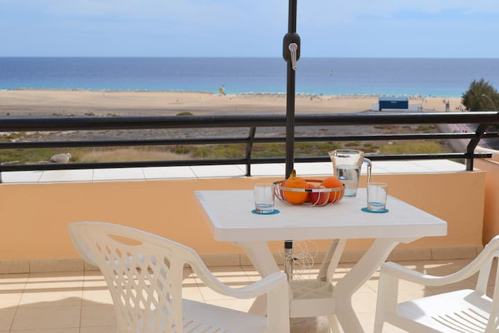 terrace and facing the ocean (6) - Morro Jable - Apartment