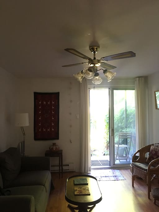 New this year: Ceiling fan in sitting room.