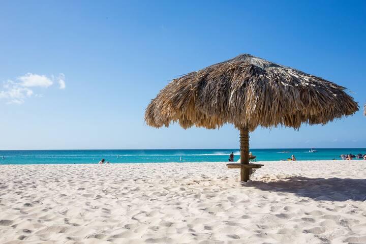 Oceania Resort closest apartment to Eagle Beach