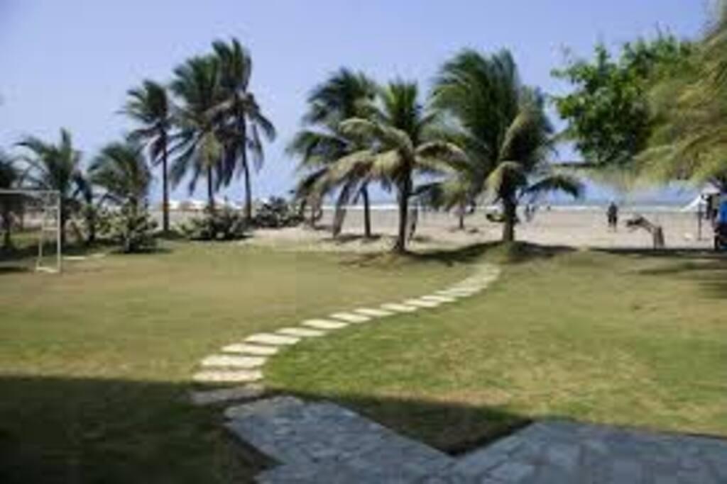 Offering direct access to La Boquilla Beach.