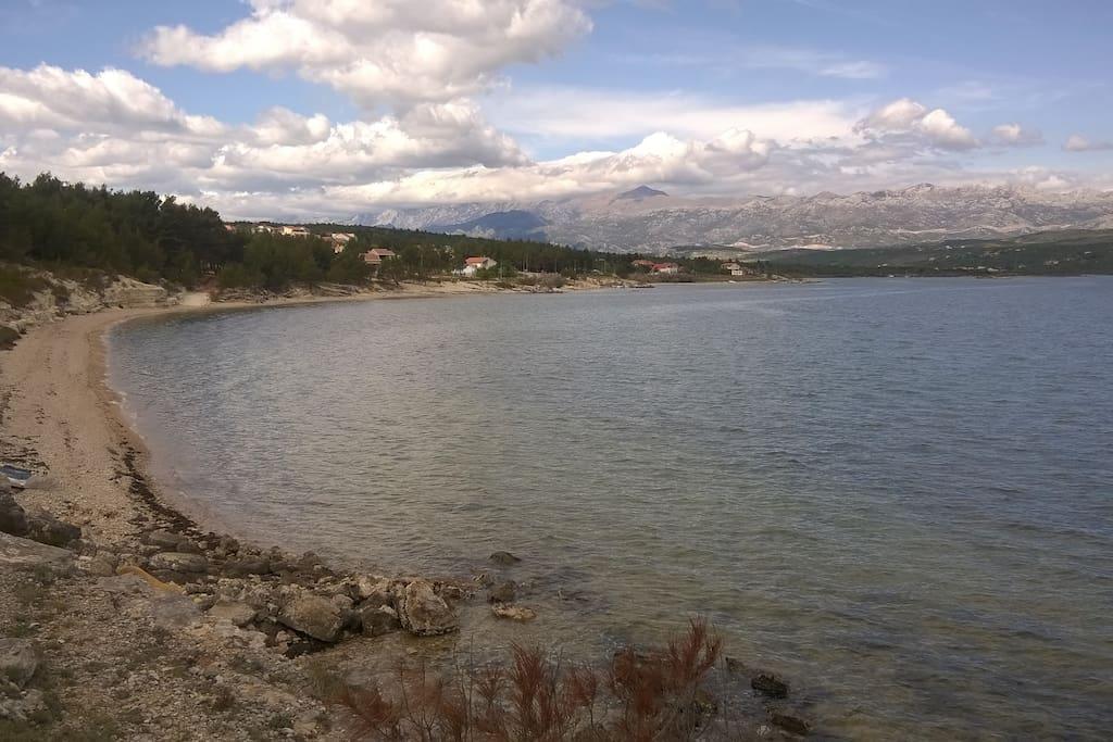 Pridraga beach