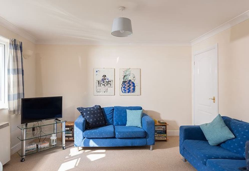 Living Room with comfortable seating for four
