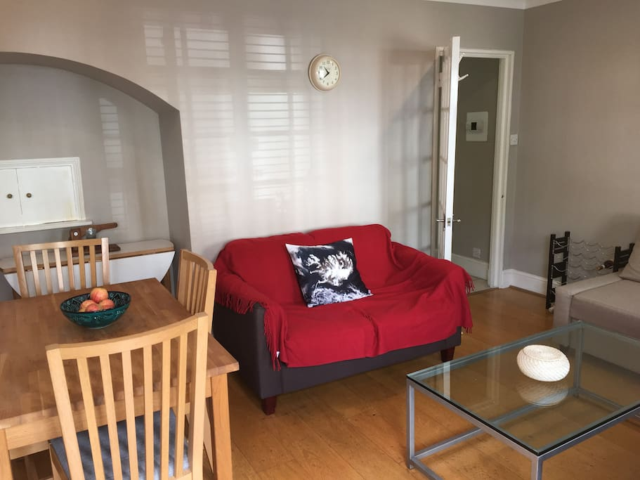 Shared Living Area with sofa bed