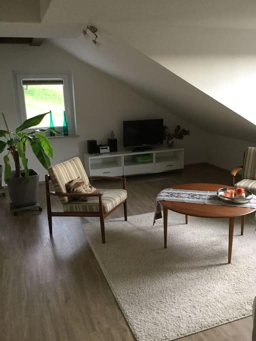 Wohnbereich mit SAT TV - Living Arena with SAT TV - zona de estar con SAT TV