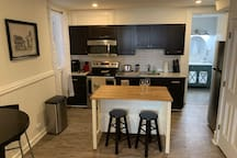 Spacious, fully equipped eat-in kitchen with seating for 4!