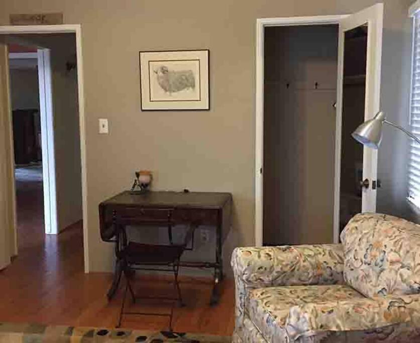 Bedroom Closet, View of Hall