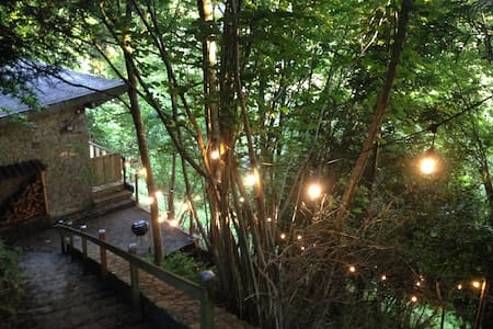La Cheraudiere River & Woodland lodge nr Domfront