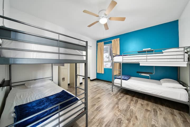 Bed in 4-Bed Dorm with Air Conditioning