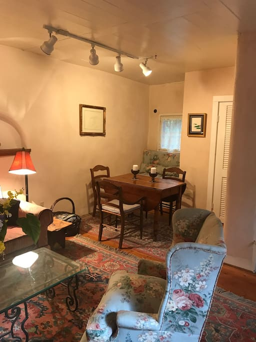 Dining or work area in Living room