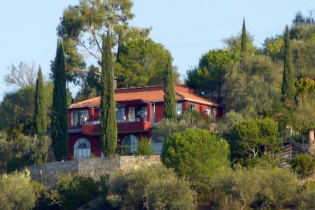 Sonnig gelegene Villa im Olivenhain mit Meerblick - Isolalunga - Maison