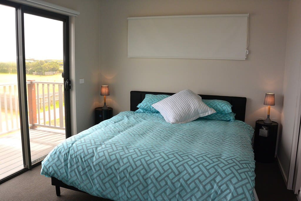 King size bed upstairs with en-suite
