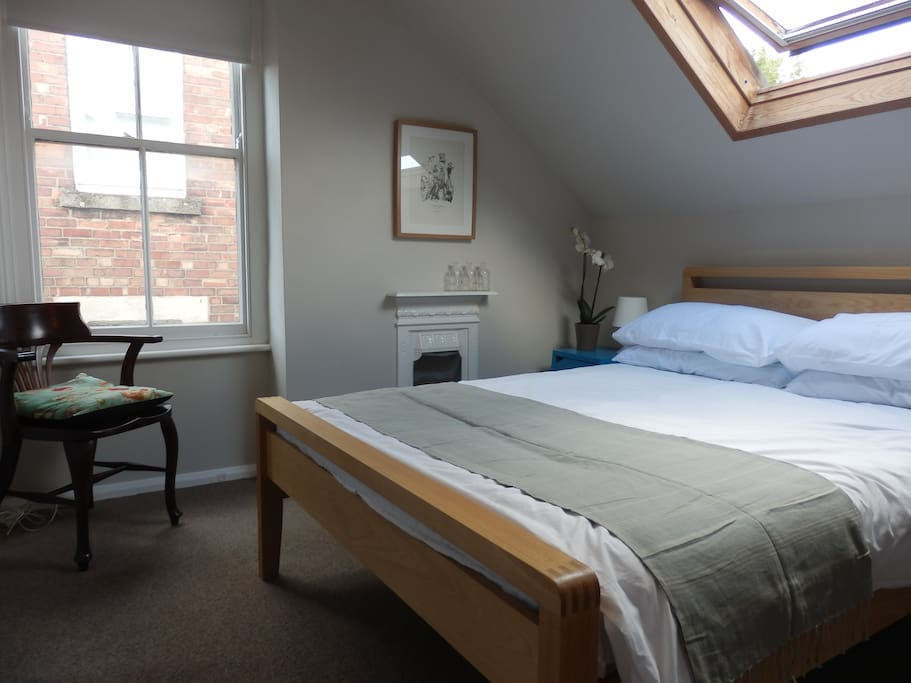Private bedroom with double bed.
