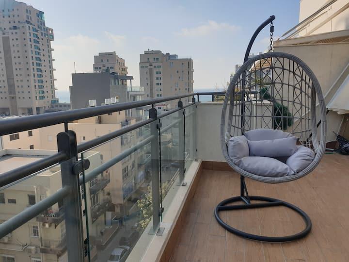 Private suite in a beautiful beach penthouse!