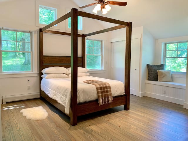 Master Bedroom with Custom Canopy Bed