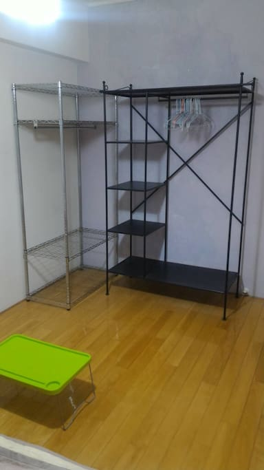 Two clothes shelf