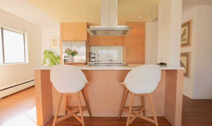 Modern Top Floor Corner Condo located in Kitsilano