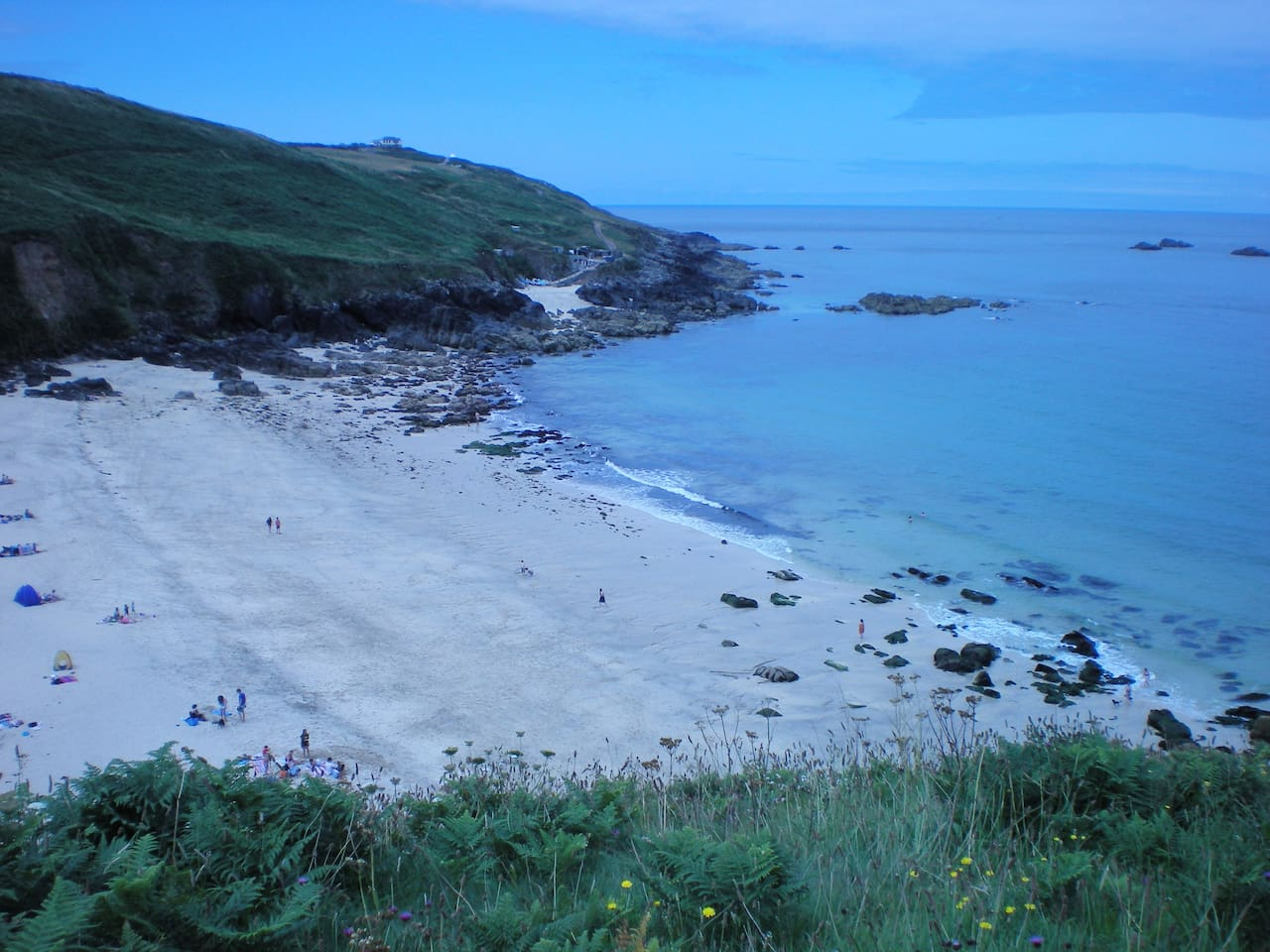 The lovely Portheras Cove, which is accessed by a quiet lane, a farmyard and then a grass track down the cliffs, just 3/4 mile from my house.