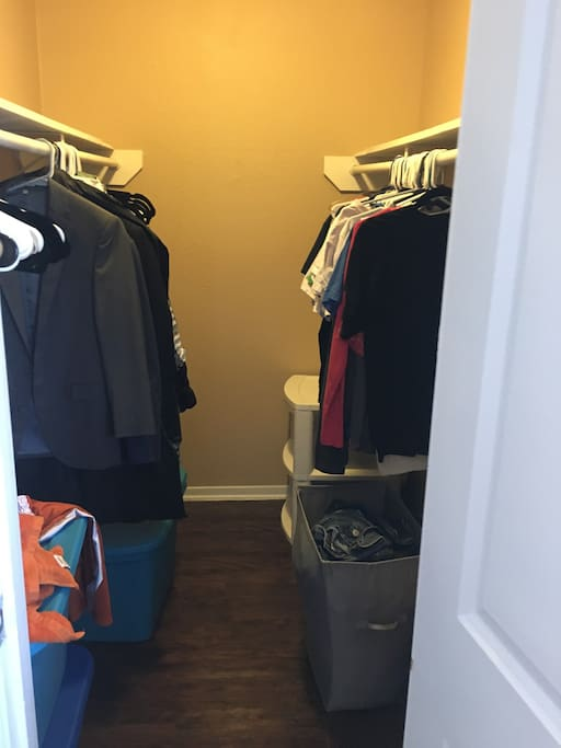 Closet. It will be empty for guests