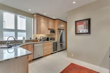 ...with wine cooler and all stainless steel appliances