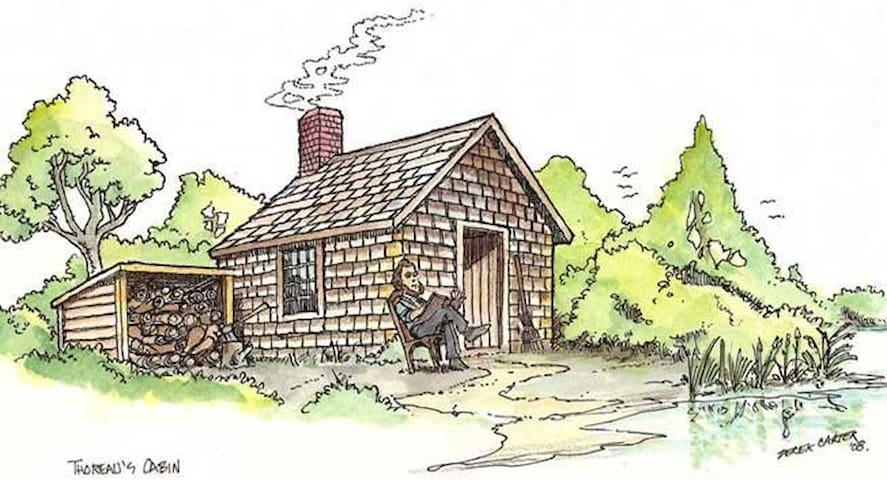 Small farm cabin near town