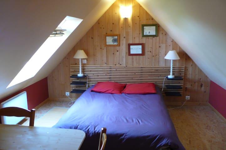 Chambre+SdB  dans la campagne proche de Lannion - Ploubezre - บ้าน