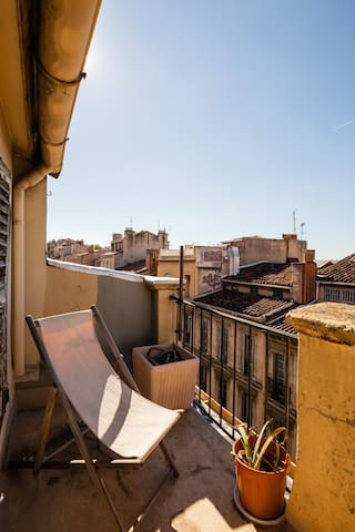 City center close station + terrace - Marseille - Apartment