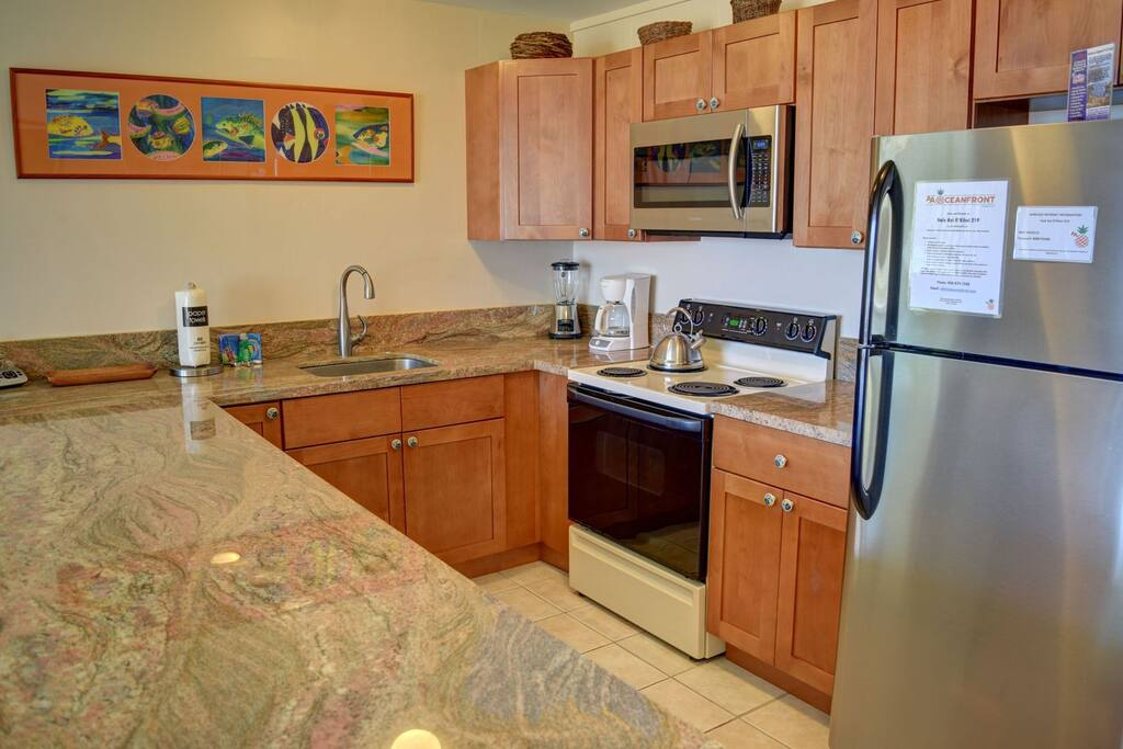 Luxury remodeled and fully stocked kitchen