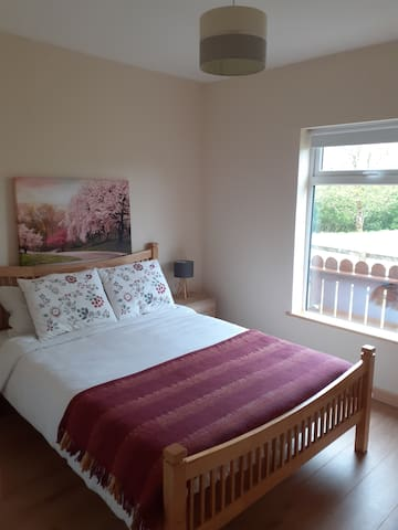 Brand new double room. We are just waiting on our chest drawer to arrive and we will know exactly how to position the bed and where to hung this beautiful canva