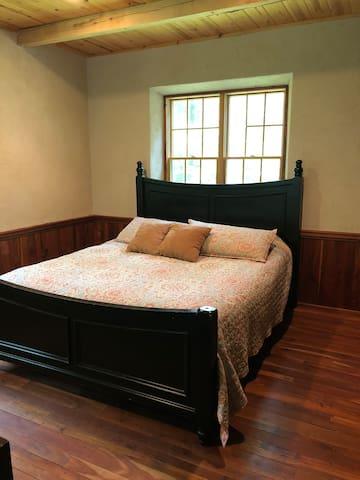 California King bed upstairs