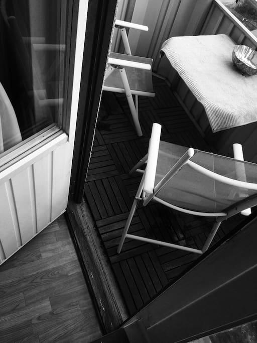 Cosy, sunny balcony