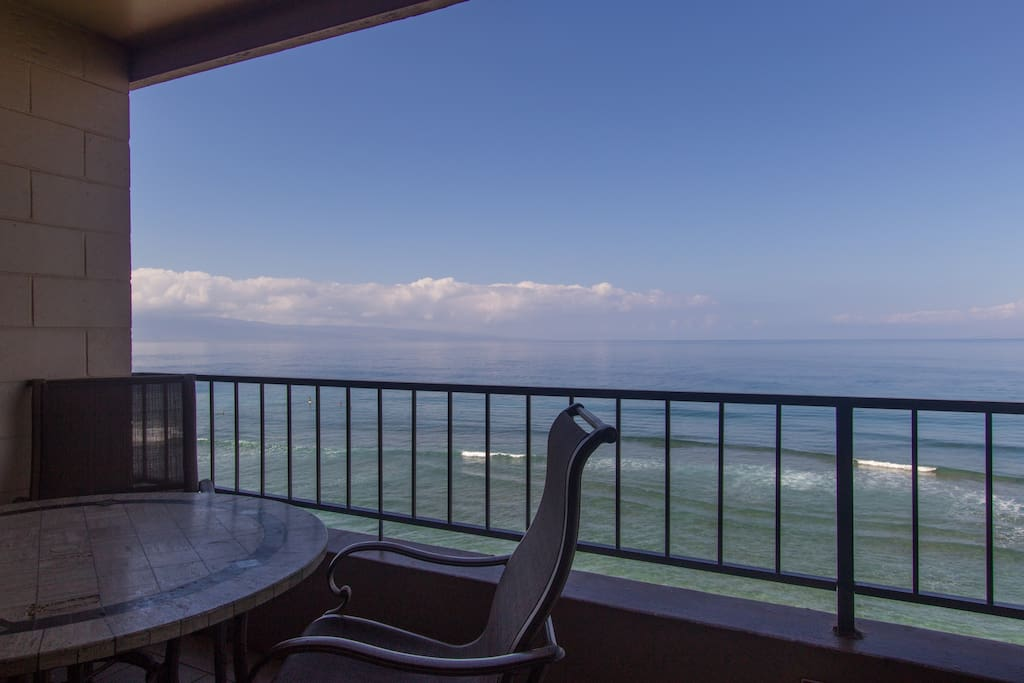 Sweeping ocean view with both Lanai and Molokai in the background.
