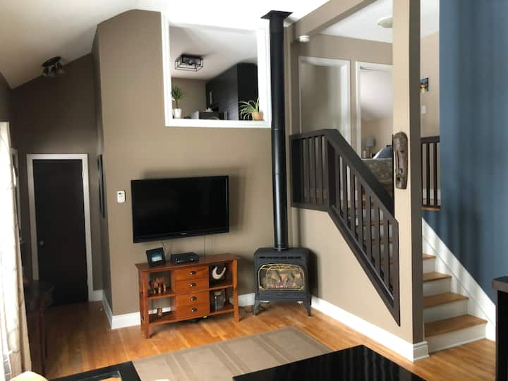 2 bedroom with loft style living space