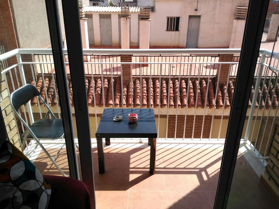 Un balcón acogedor