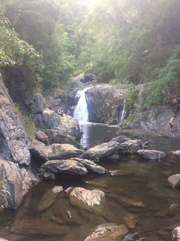 Crystal Cascades fresh water swimming hole 20 minutes drive away