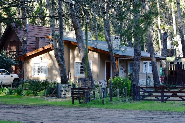 Casa bosque de Mar Azul, 5/6 personas, 2 dormi