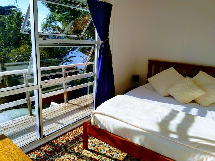 Queen bedroom with view