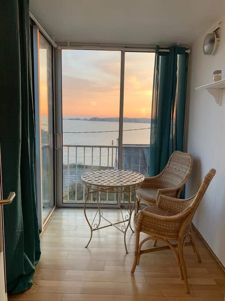 Appartement vue mer face aux 7 îles Perros Guirec