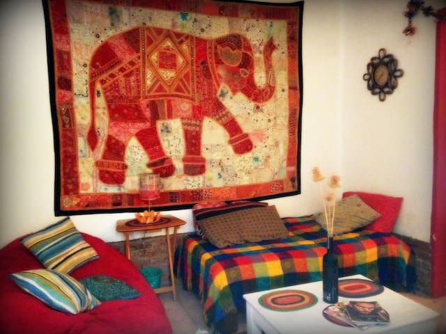 Colorful single room for lonely travellers-Condesa