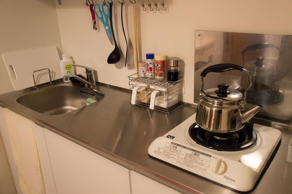 ご自由に利用できるキッチンです。