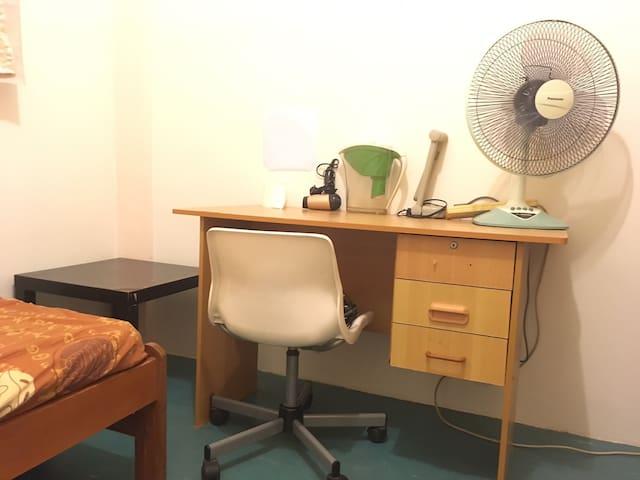 Working space, water filter, fan, hair dryer, tissue