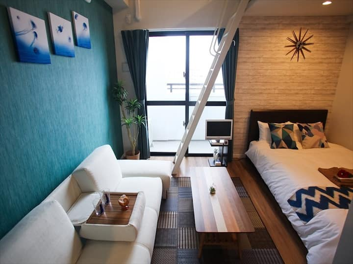 Naha Center! Spacious apartment, Wifi,Max5