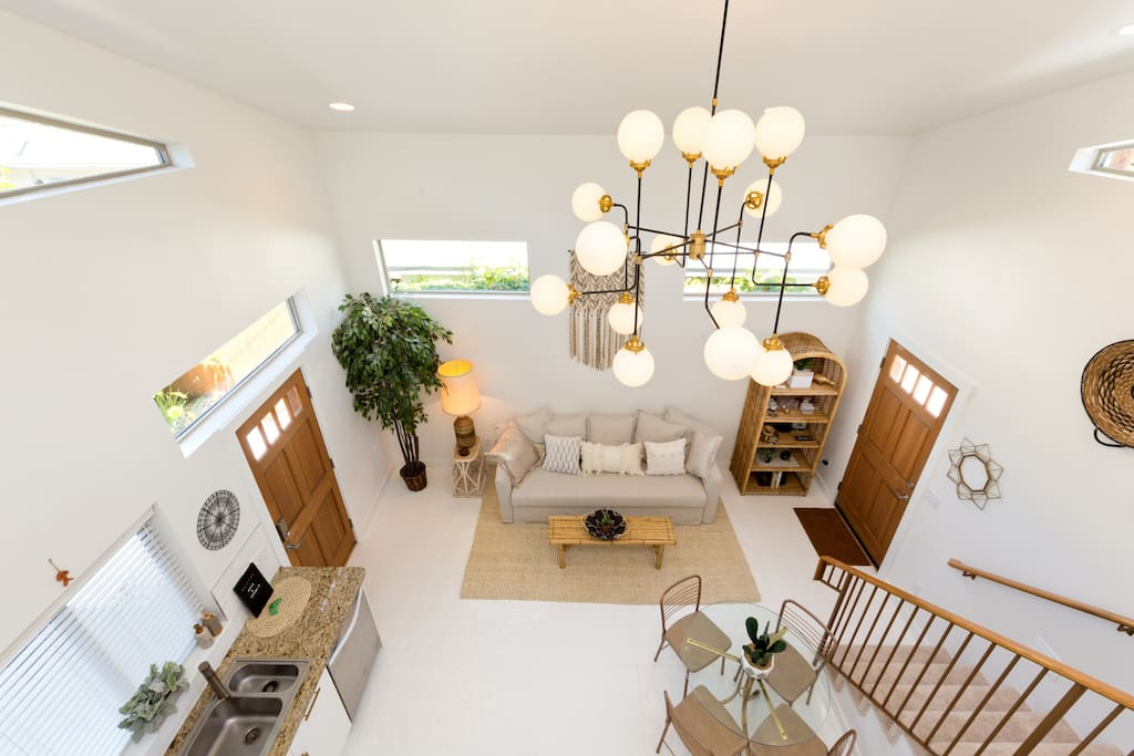 Welcome home! 18ft high ceilings make this space really special