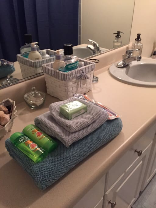 Bathroom necessities for your stay
